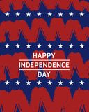 Independence day. American independence day painting spiral brush style background Stock Photo
