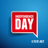 Independence day American signs royalty free illustration