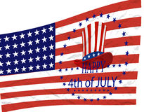 Independence Day. American symbols on the background of a stylized flag. illustration Stock Image
