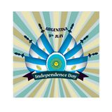 Independence Day of Argentina, illustration with national flags. Independence Day of Argentina, vector illustration with national flags Vector Illustration