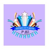 Independence Day of Argentina, illustration with stylized festive fireworks. Independence Day of Argentina, vector illustration with stylized festive fireworks Vector Illustration