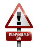 independence day attention sign illustration Royalty Free Stock Photo