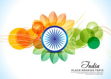 Independence day 15 august background with flower. Vector illustration Stock Photography