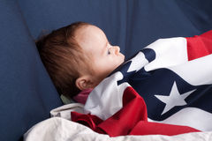 Independence Day Baby Stock Photography