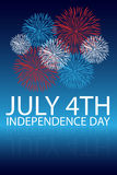 Independence day background. Vertical background for 4th july, independence day with fireworks. EPS file available Vector Illustration