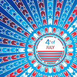 Independence day background Stock Photography