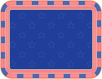 Independence Day background. Frame made of United States flags Royalty Free Stock Photography