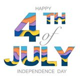 Independence day background. Background with USA independence day symbols isolated on white background Stock Photography
