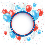 Independence day background with balloons Royalty Free Stock Photography