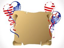 Carnival background. Independence day background with balloons and ribbons Stock Photo
