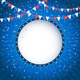 Independence day background with banner Royalty Free Stock Image