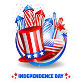 Independence Day Background in Circle - Vector Royalty Free Stock Photography
