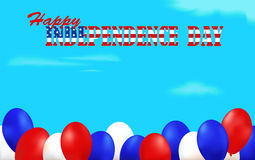 Independence Day background decorated with balloons Stock Photography