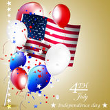 Independence day, vector illustration with balloon Royalty Free Stock Images