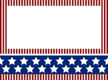 Carnival background. Independence day background with stripes and stars stock illustration