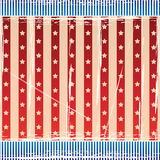 Independence Day Background with strips and stars Stock Photography
