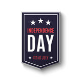 Independence day background, 4th of July. Banner on on white. Vector illustration Royalty Free Illustration