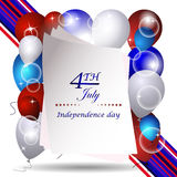 Independence day  background with USA design Royalty Free Stock Images