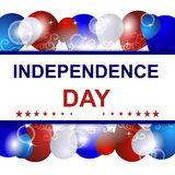 Independence day  background with USA design Royalty Free Stock Photo