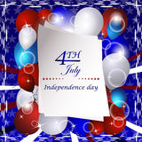 Independence day  background with USA design Royalty Free Stock Photography
