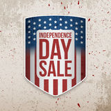 Independence Day Background with USA Flag Shield Royalty Free Stock Photography