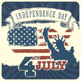 Independence day background. Vector Stock Image
