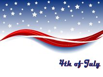 Carnival background. Independence day background with wave and stars Stock Image