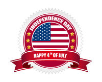 Independence day badge. On white background Royalty Free Stock Photo