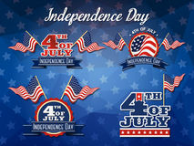 Independence Day Badge Collection. Flag decoration logo design, 4th of July badge logo Royalty Free Stock Photography