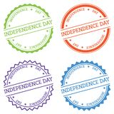 Independence day badge isolated on white. Royalty Free Stock Photo