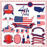 Independence day badge label element  illustration eps10. Royalty Free Stock Images