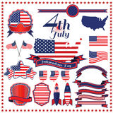 Independence day badge label element  illustration eps10. Stock Photography