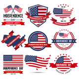 Independence day badge and label. Illustration eps10 Royalty Free Stock Photography