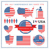 Independence day badge and label Stock Photos