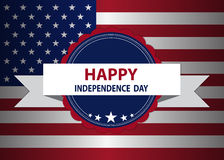 Independence day badge Stock Images