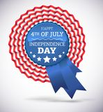 Independence day badge vector Royalty Free Stock Photo