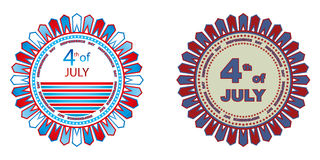 Independence day badges. 4th of July independence day badges isolated on a white background Royalty Free Stock Photography