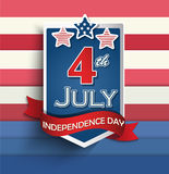 Independence day badges. 4th of july American independence day badges. Vector illustration Royalty Free Stock Images