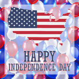 Independence day balloon background. 4th of july independence day balloon background Royalty Free Stock Image