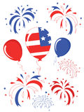 Independence day,balloons Stock Photos