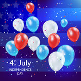 Independence day balloons Royalty Free Stock Photography