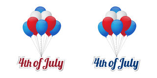 Independence day balloons. Happy 4th of July, Independence day balloons Royalty Free Stock Images