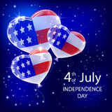Independence day balloons and stars Stock Photo