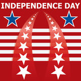 Independence day banner Stock Images