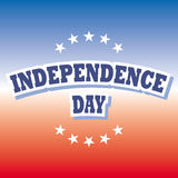 Independence day banner. Independence day america banner red and blue background  illustration Royalty Free Stock Photos
