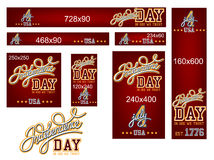 Independence Day Banner Set. Independence Day Set for Standard Size Web Banner Ads Royalty Free Stock Photo