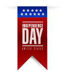 Independence day banner sign illustration Royalty Free Stock Photos