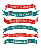 Independence Day Banners Collection Stock Photography