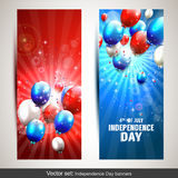 Independence day banners Stock Photography