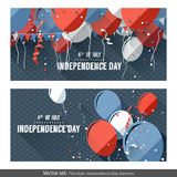 Independence Day banners Stock Photos